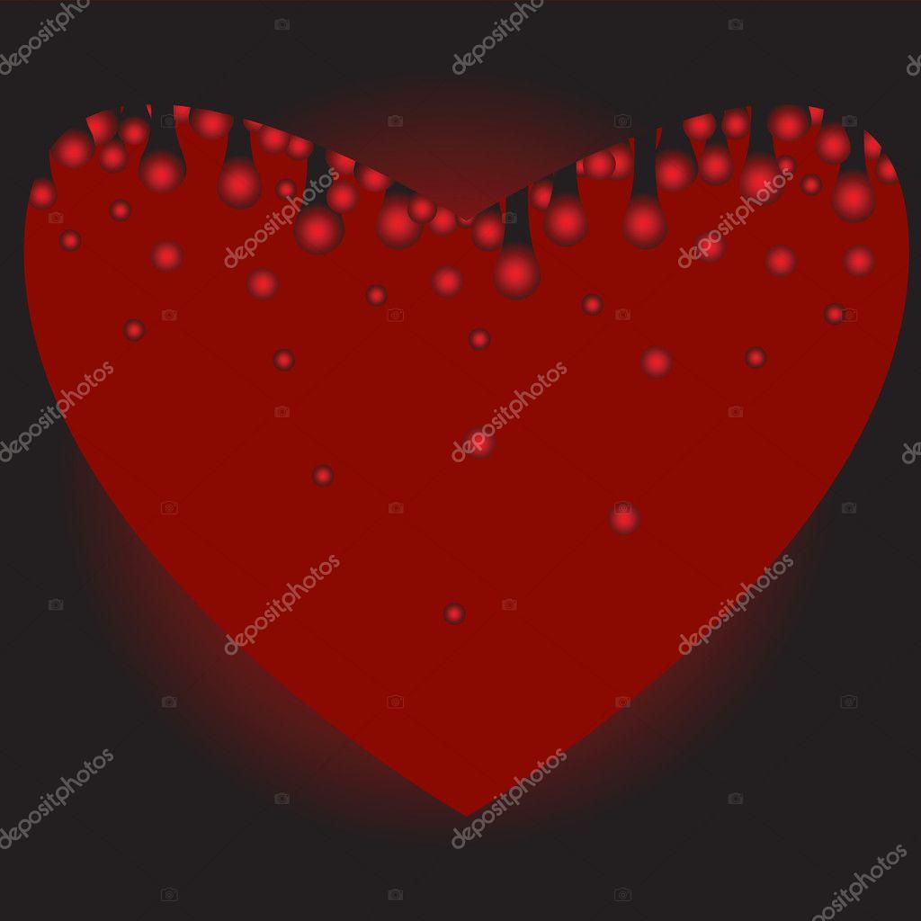 Corazón A Sangrar Archivo Imágenes Vectoriales Irazavod 2066742