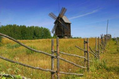 Windmill under blue sky