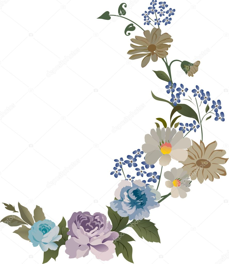 Blue rose flower decoration