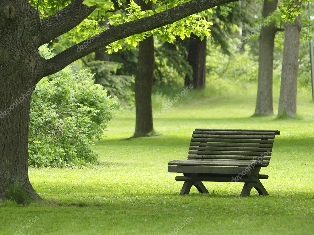 Park Bench Stock Photo C Laksen 1690229