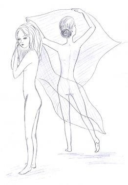 Naked girl sketch