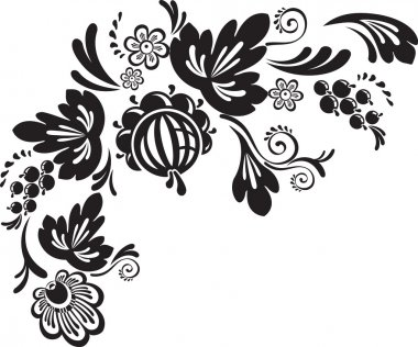Vector floral illustration clip art vector