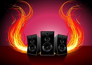 Music and fire wave