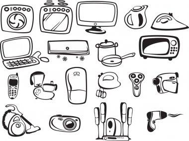 Symbols of household appliances