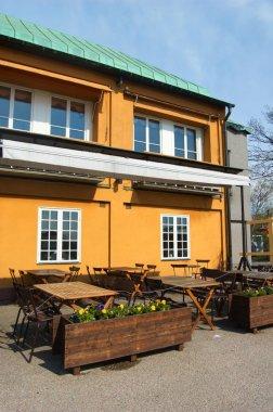 Swedish street cafe interior