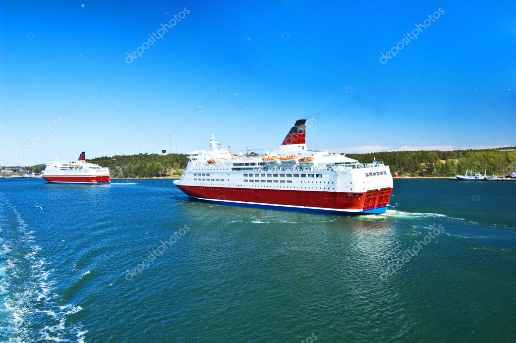 Cruise ships in Baltic sea