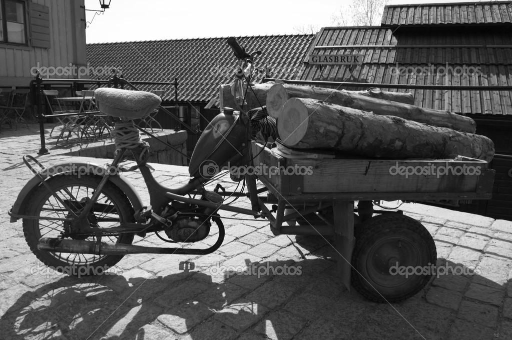 Moto Ancienne Sur Rue Photographie Mylips 1645857