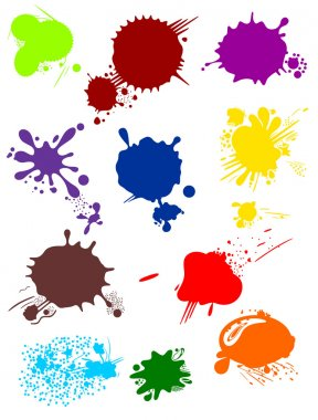 Various colorful blots