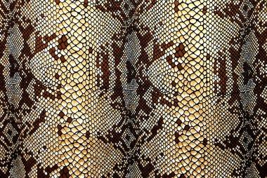 Fabric patterned snakeskin