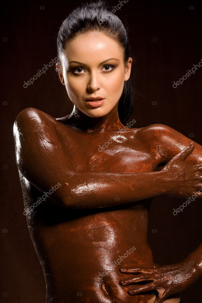Sexy girls completely covered in chocolate xxx pics