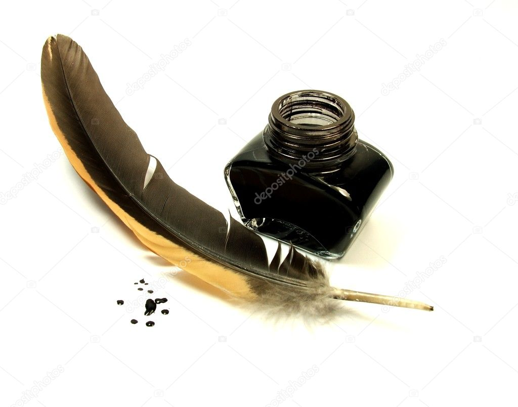 Inkwell and quill — Stock Photo © bogdanwankowicz #1630484Quill And Inkwell Image