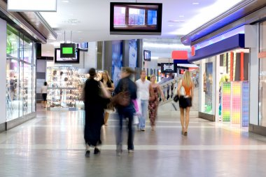 Shoppers at shopping center 2