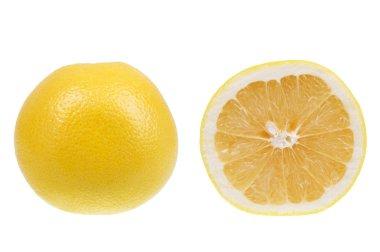 Yellow grapefruit isolated over white