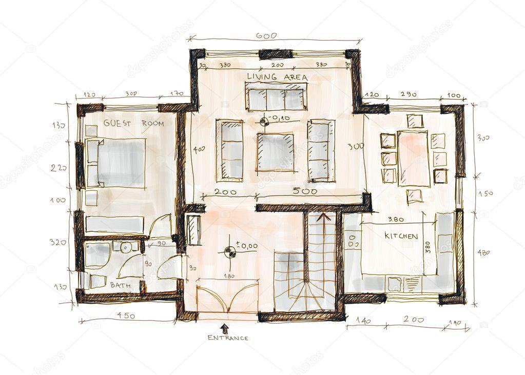 Design blueprint stock photo jazavac 1678205 design blueprint stock photo blueprint of a house sketch style photo by jazavac malvernweather Gallery