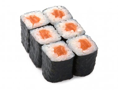 Japanese roll with red fish