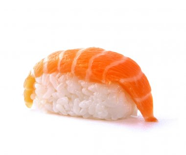 Japanese sushi with salmon fish