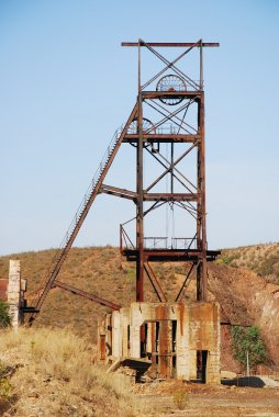 Abandoned industrial Mining tower.