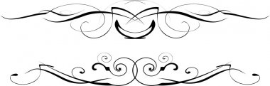 Black and white vector ornate