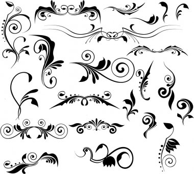 Set of vector patterns for design