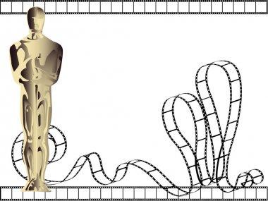 Vector statuette background