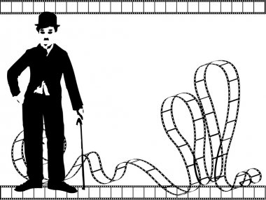 Vector silhouette chaplin