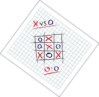 Tic Tac Toe game draw