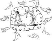 Pojetí lásky dvě boty a boty