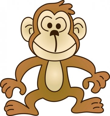 Funny monkey - illustration image