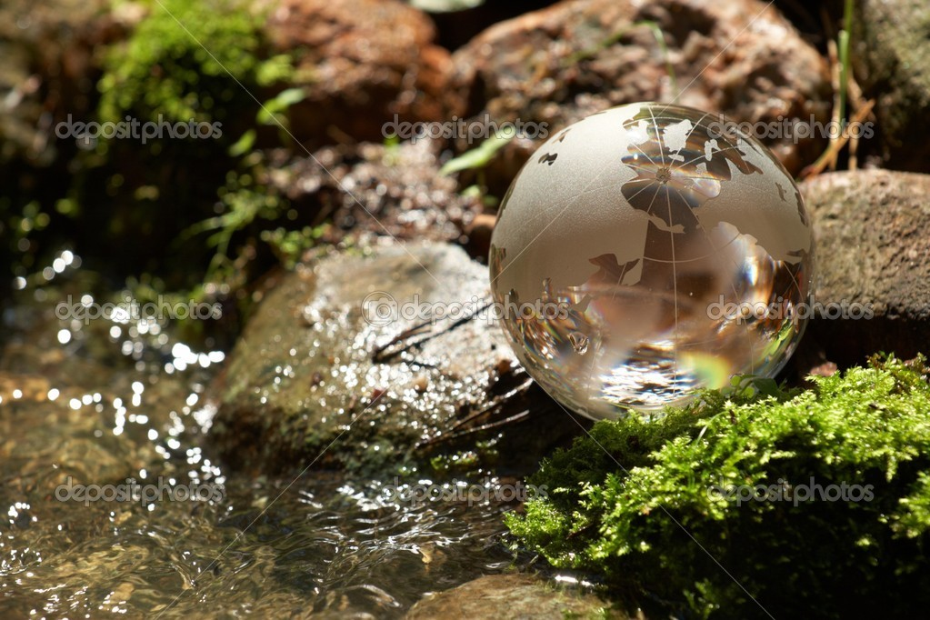 Water stream, globe, ecology