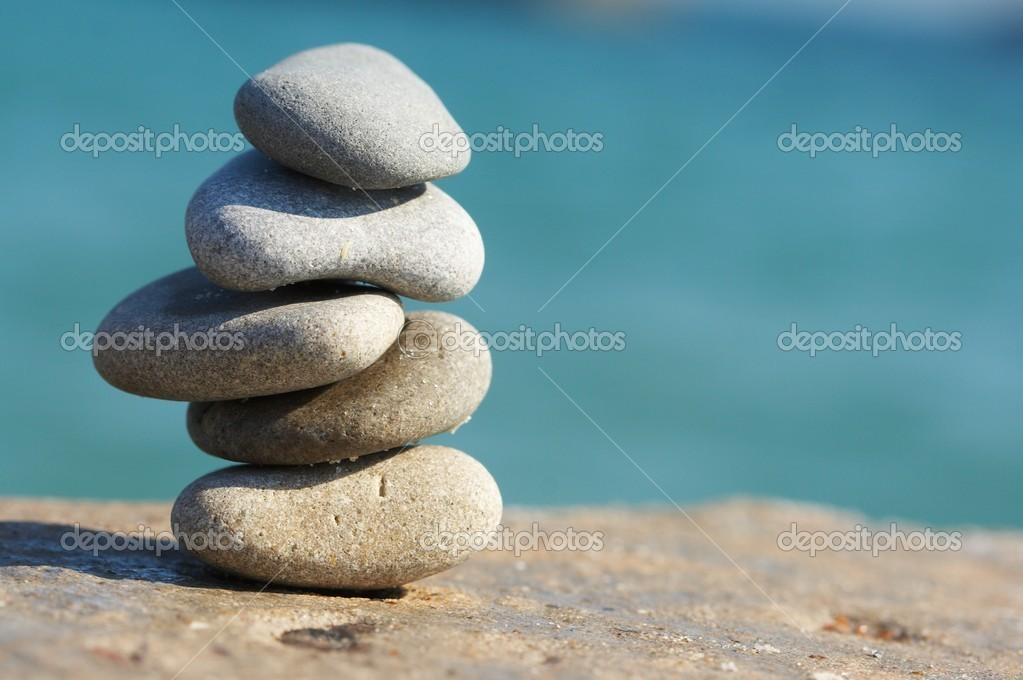 Stones combined in a pyramid, zen
