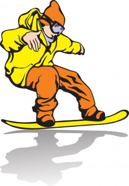 Snowboarder . Winter kind of sports