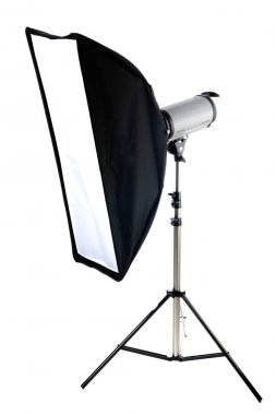 Studio strobe with soft box