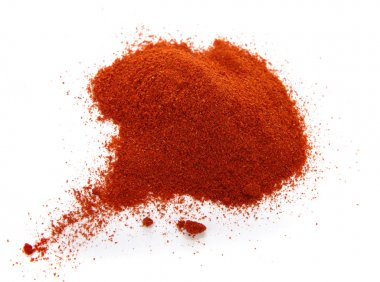 Food spice pile of red ground PAPRIKA o