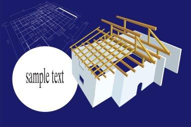 Plan house illustration