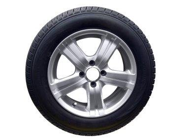 Tire with aluminum wheel