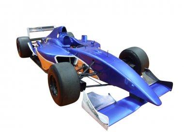 Blue racing car