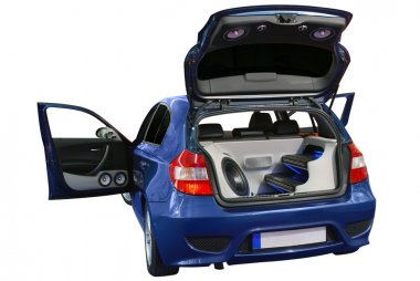 Car with power audio system