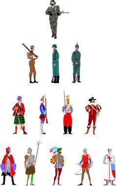 Soldier uniform through history