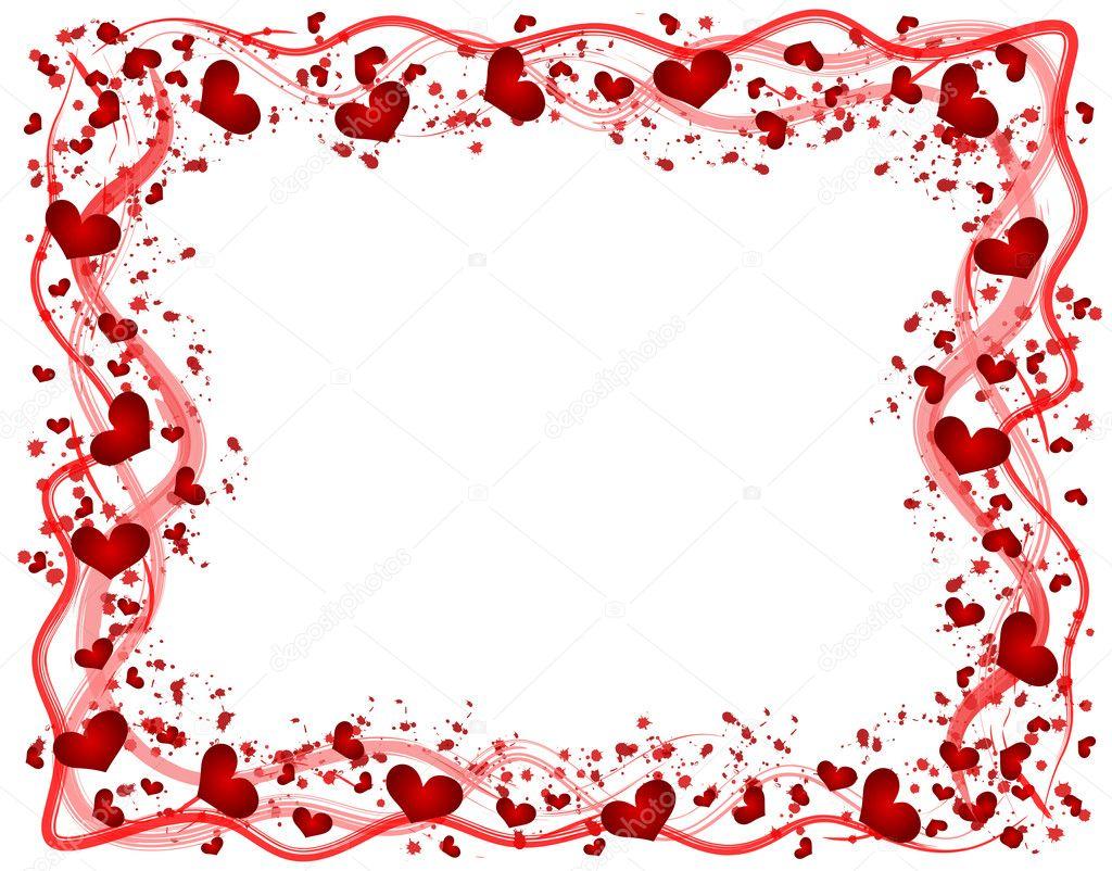 marco con corazones — Fotos de Stock © pdesign #1649853