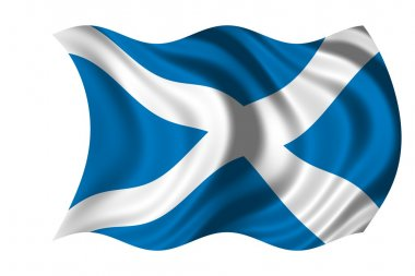 Waving flag Scotland