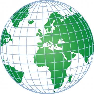 Green 3d globe