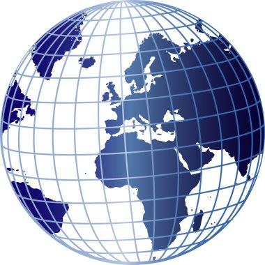 Blue 3d globe