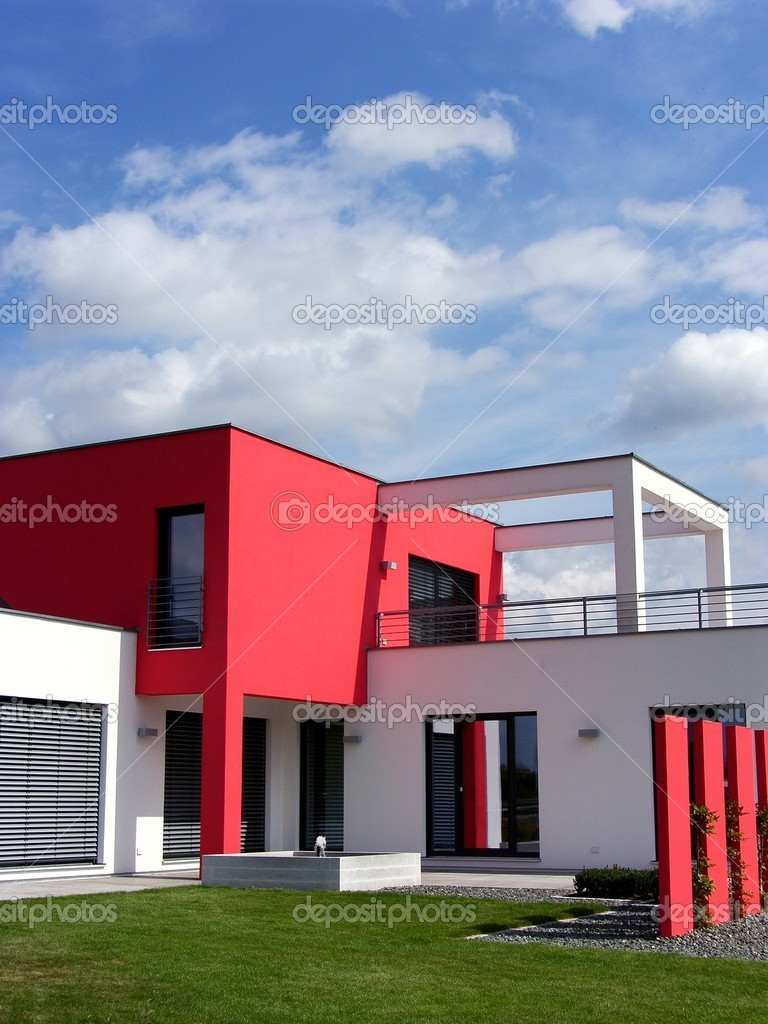 moderne bungalow – Redactionele stockfoto © pdesign #1742856