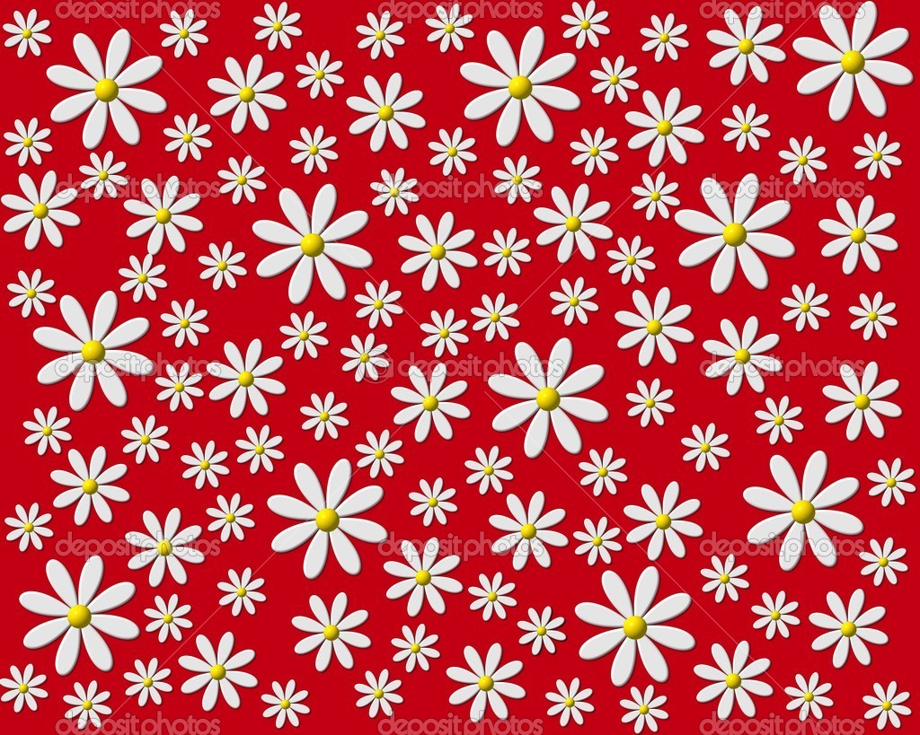 Flower background red — Stock © pdesign