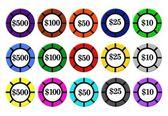 Fotografie Isolated Poker Chips