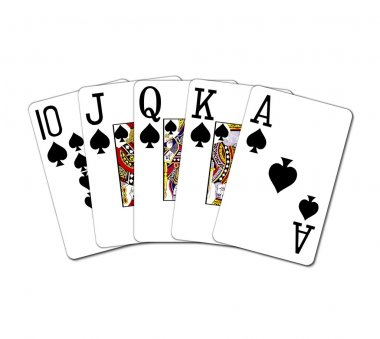 Isolated Royal Flush in Spades