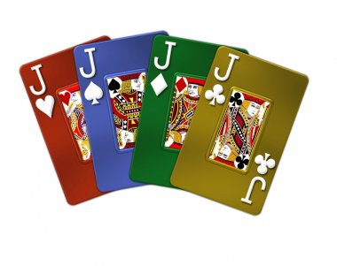 Poker Hand Quads Jacks