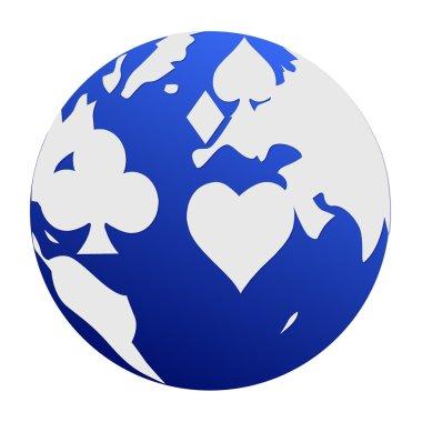 Poker World blue white