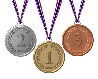 Set of Winners Medals bronze silver gold