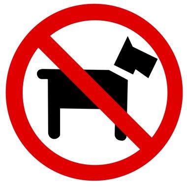 Prohibition sign Dog